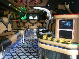 hummer limo inside